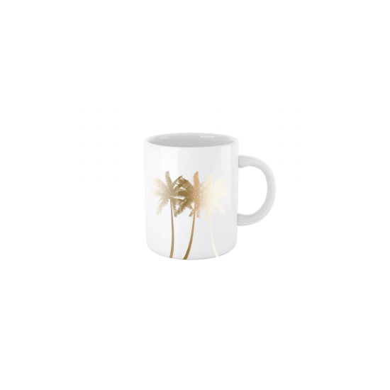 Golden Palm Mug en porcelaine 300ml